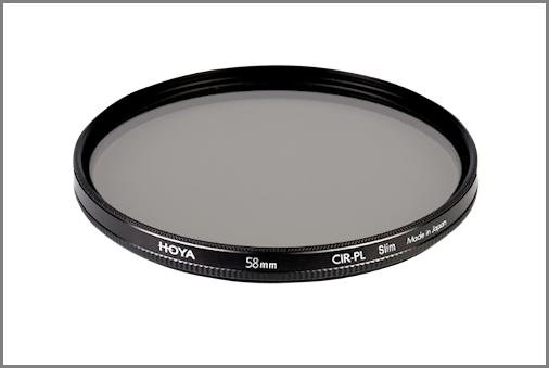 Ejemplo: Polarizador circular Hoya Slim 58mm